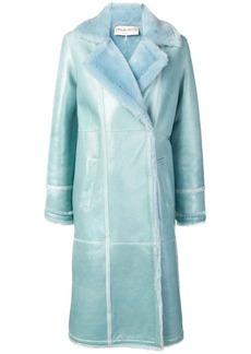 Emilio Pucci contrast texture lined coat