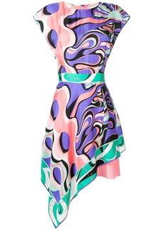 Emilio Pucci asymmetric Copacabana print dress