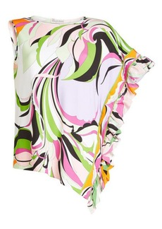 Emilio Pucci Asymmetric Top with Ruffles