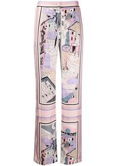 Emilio Pucci Battistero print trousers