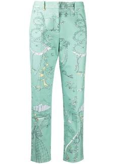 Emilio Pucci beach print cropped trousers