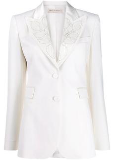 Emilio Pucci bead embellished lapel blazer