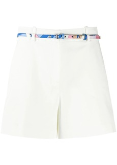 Emilio Pucci belted cotton shorts