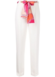 Emilio Pucci belted detail cropped trousers