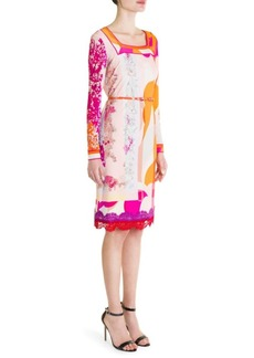 Emilio Pucci Belted Silk-Blend Jersey Shift Dress