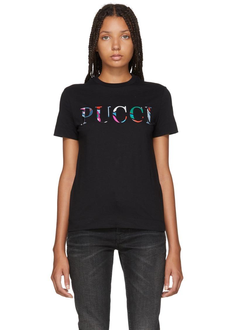 05a7609ff4e7 On Sale today! Emilio Pucci Black Bonded Logo T-Shirt