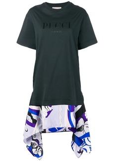 Emilio Pucci Black Logo Print T-Shirt
