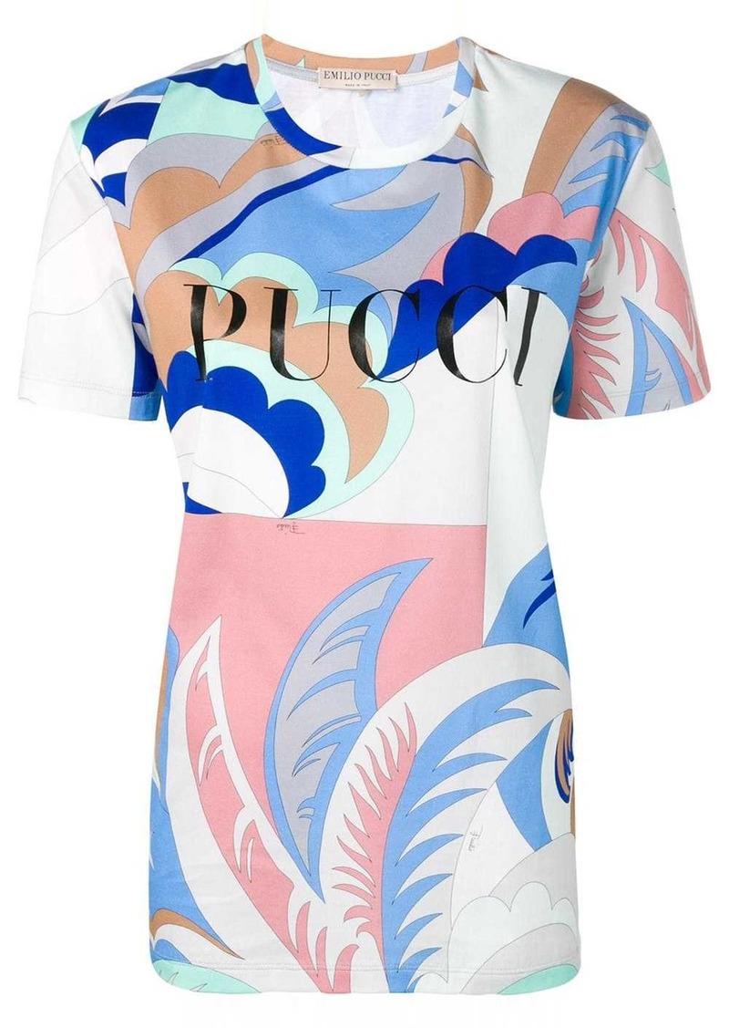 Emilio Pucci Blue Acapulco Print Logo T-shirt