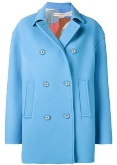 Emilio Pucci Blue Double-Breasted Pea Coat