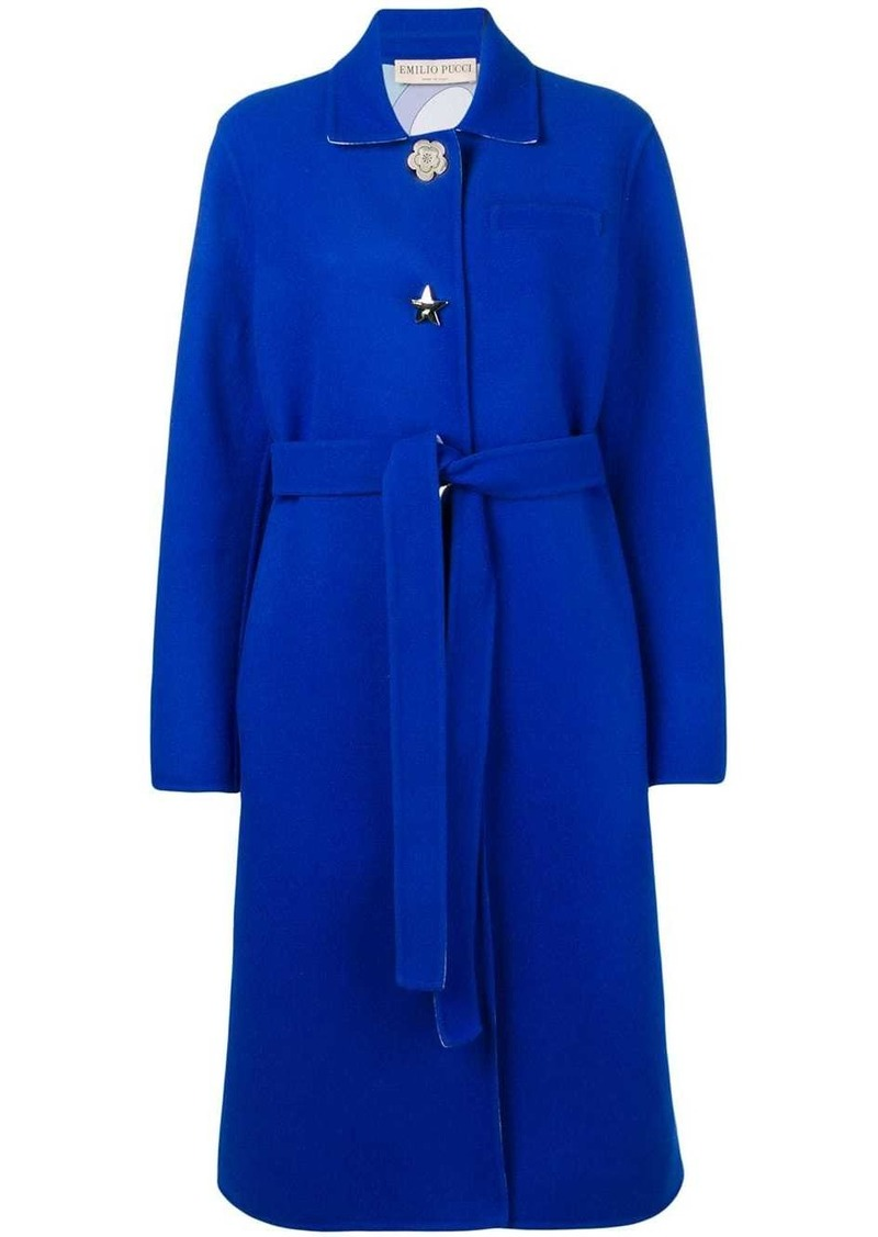 Emilio Pucci Shaped Button Wool Coat