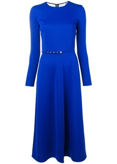 Emilio Pucci Blue Silk Midi Dress