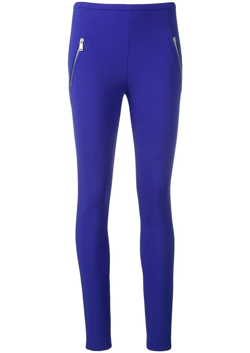 Emilio Pucci Blue Zip Pocket Leggings