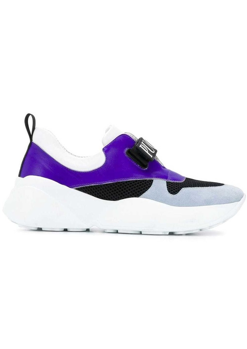 Emilio Pucci Bow Embellished Colourblock Velcro Sneakers