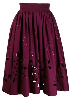 Emilio Pucci broderie anglaise high-waisted skirt