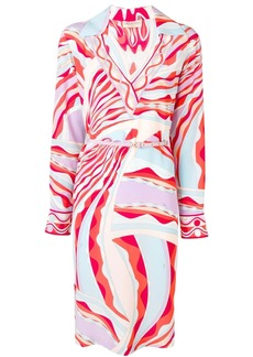 Emilio Pucci Burle Print Collared Silk Dress