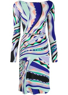 Emilio Pucci Burle Print Fitted Dress