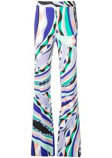 Emilio Pucci Burle Print Flared Trousers