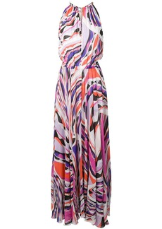Emilio Pucci Burle Print Halter-Neck Maxi Dress