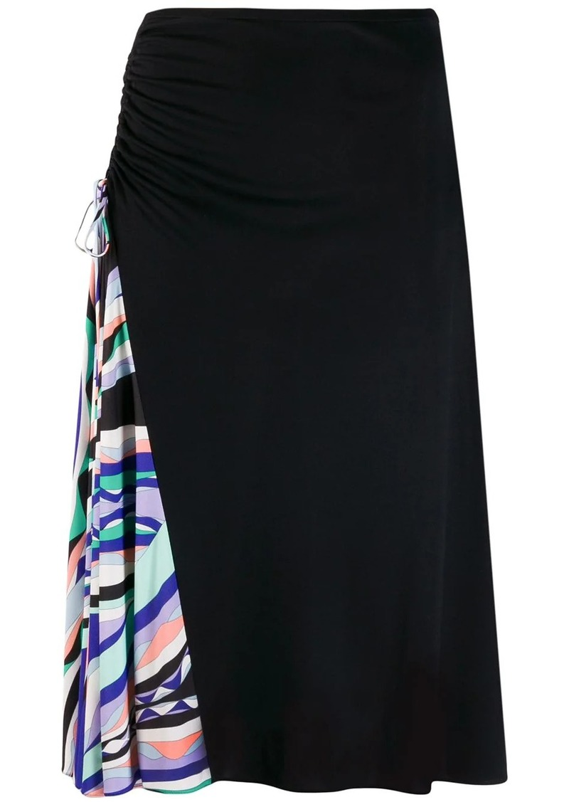 Emilio Pucci Burle Print Ruched Skirt