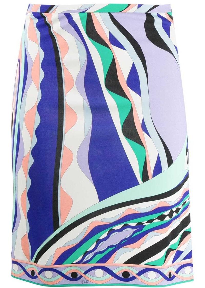 Emilio Pucci Burle Print Skirt
