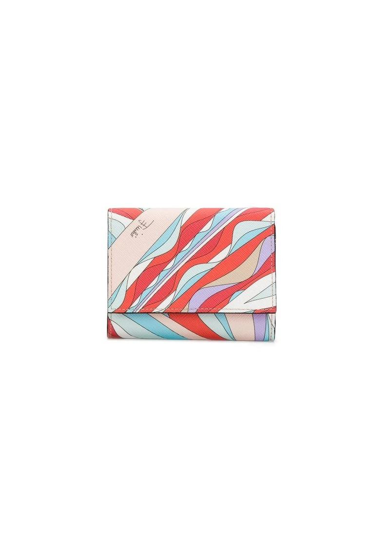 Emilio Pucci Burle Print Tri-Fold Wallet