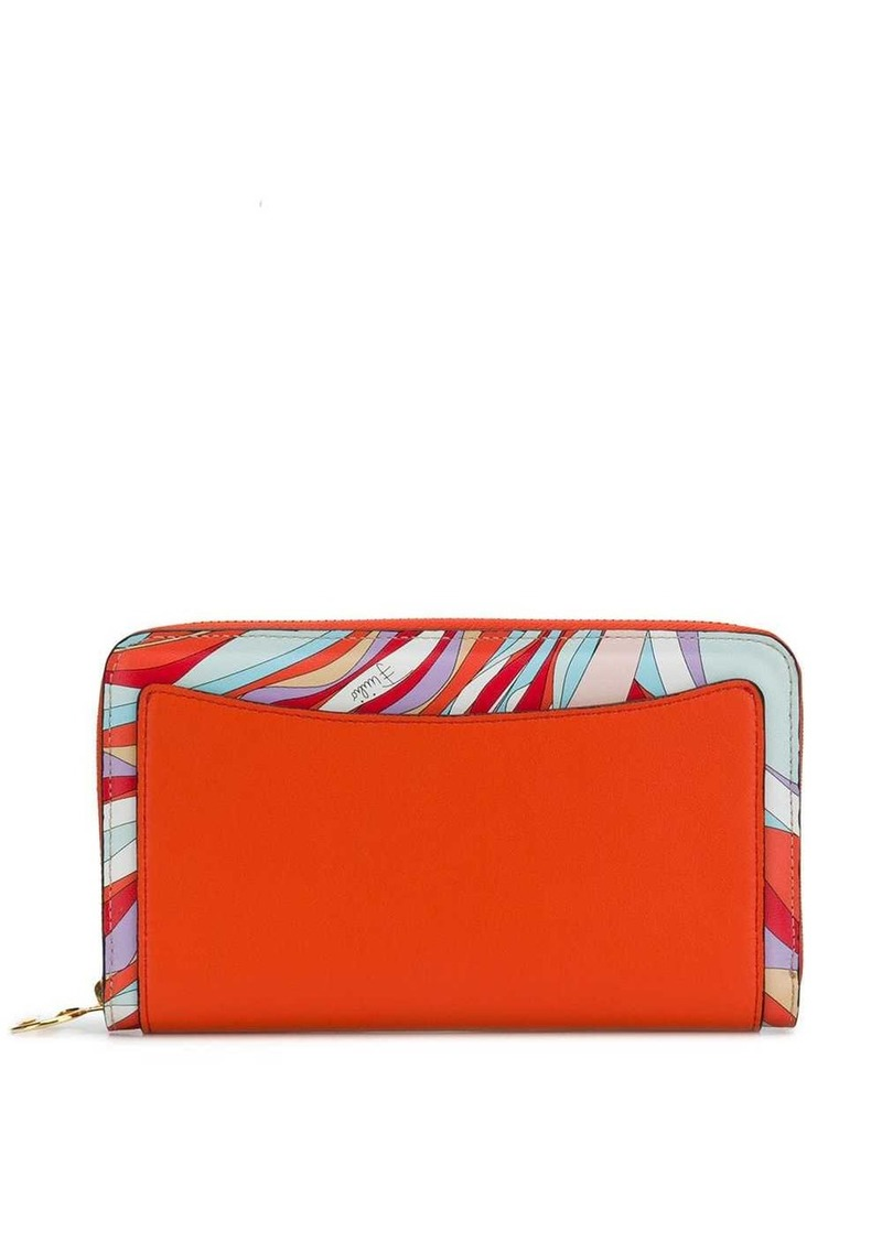 Emilio Pucci Burle Print Zip-Around Wallet