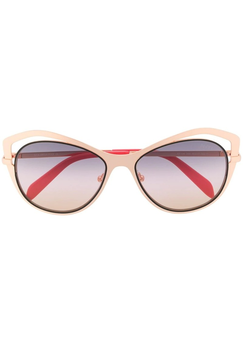 Emilio Pucci butterfly cut-out rim sunglasses