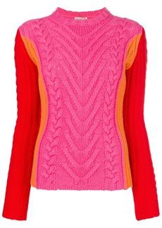 Emilio Pucci cable knit blockcolour jumper