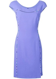 Emilio Pucci Cap Sleeve Contrast Trim Dress