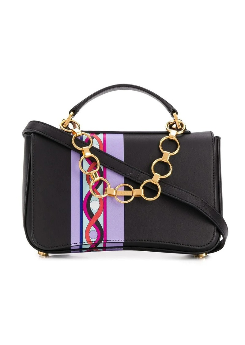 Emilio Pucci Chance Chain Embellished Printed Bag