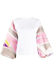Emilio Pucci Ciwara-printed sleeves blouse