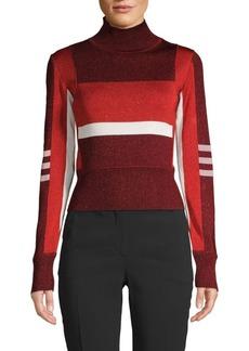 Emilio Pucci Colorblock Turtleneck Sweater