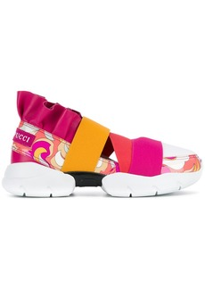 Emilio Pucci colour block slip-on sneakers