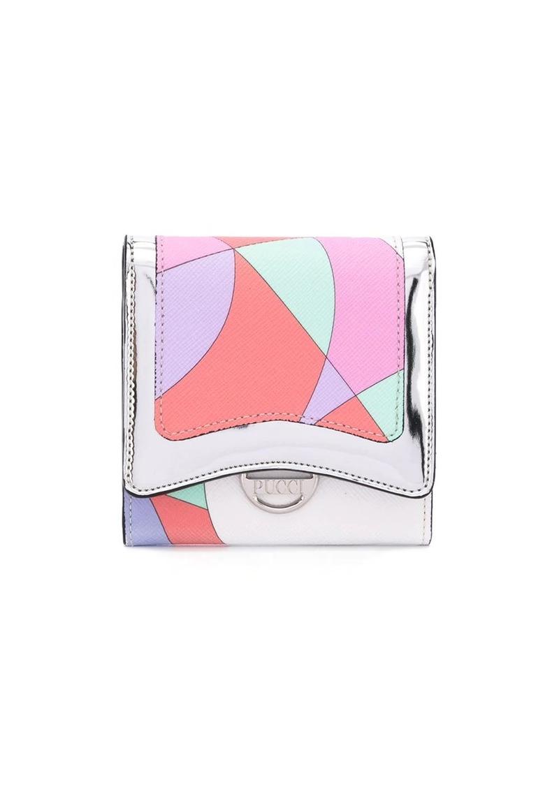 Emilio Pucci colour block snap wallet