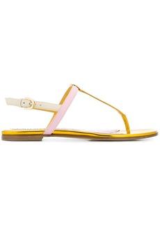 Emilio Pucci colour-block T-bar sandals