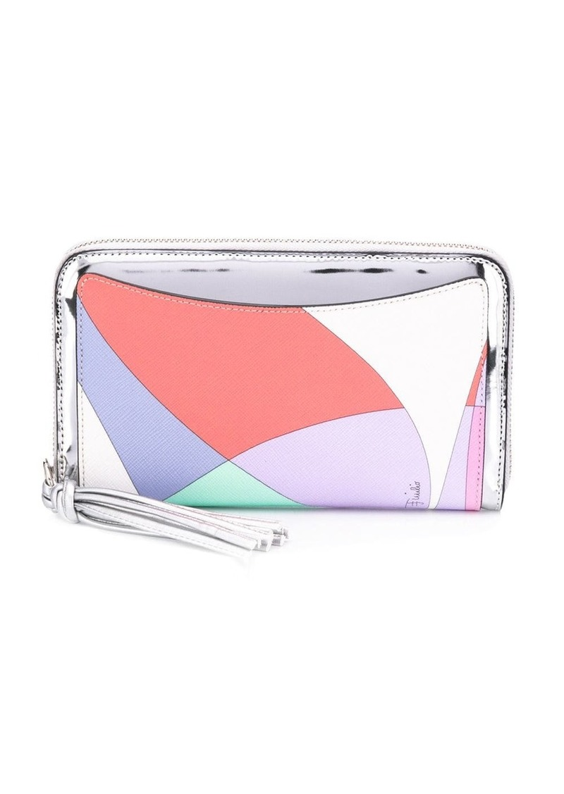 Emilio Pucci colour block zip wallet
