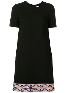 Emilio Pucci Contrast Hem Mini Dress