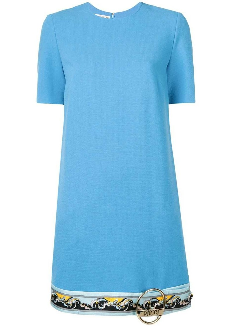 Emilio Pucci Contrast Hemline Shift Dress