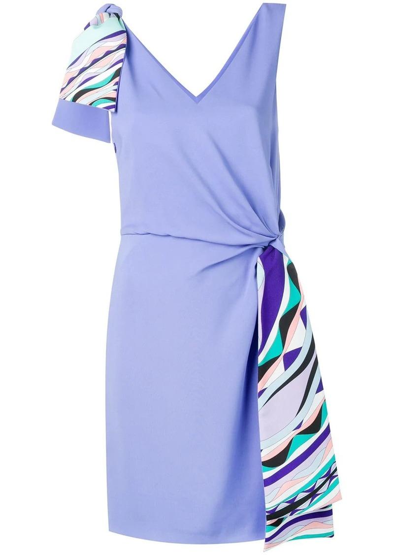 Emilio Pucci Contrast Knot Waist Dress