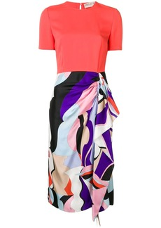 Emilio Pucci Contrast Vallauris Print Dress
