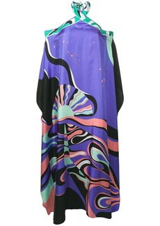 Emilio Pucci Copacabana Print Halterneck Silk Dress