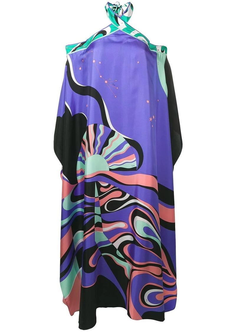 Emilio Pucci Copacabana Print Halterneck Silk Dress