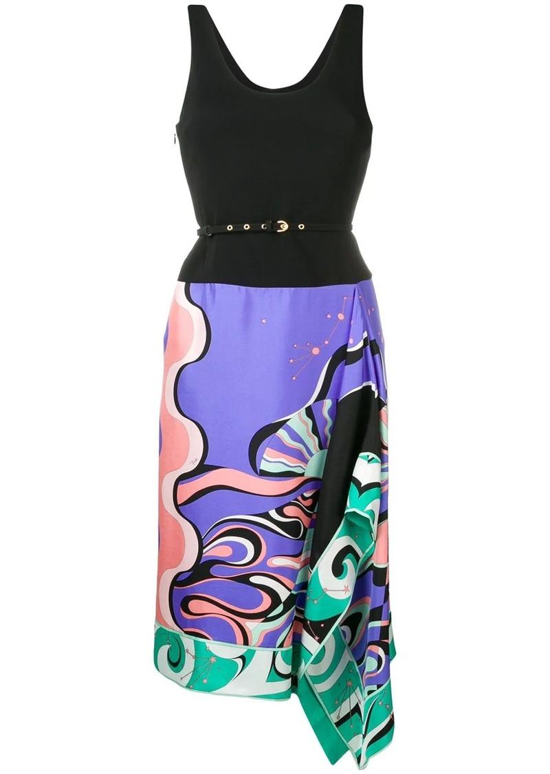 Emilio Pucci Copacabana Print Sleeveless Belted Dress