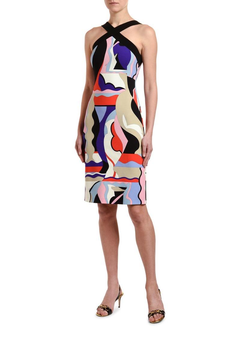 Emilio Pucci Crisscross Halter-Neck Dress