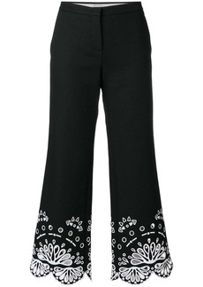 Emilio Pucci cropped embroidered trousers
