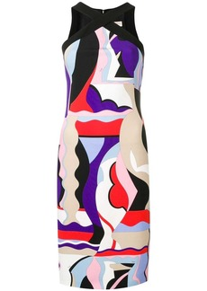 Emilio Pucci Cross Front Vallauris Print Dress
