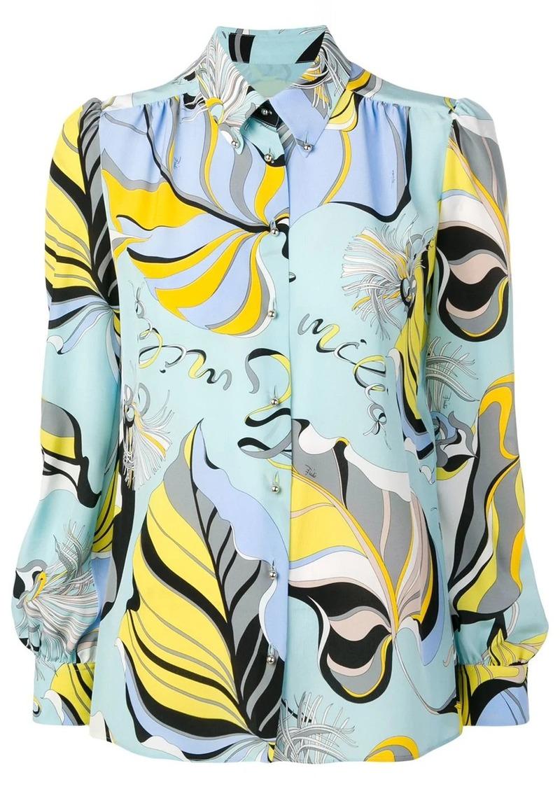 Emilio Pucci Crêpe De Chine Silk Frida Print Shirt