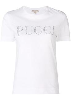 Emilio Pucci Crystal Embellished Logo T-shirt