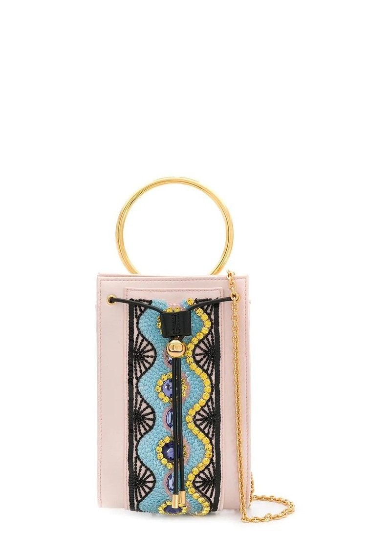 Emilio Pucci crystal embellished top handle bag