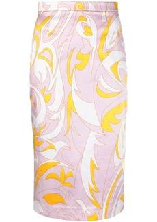Emilio Pucci Dinamica print pencil skirt
